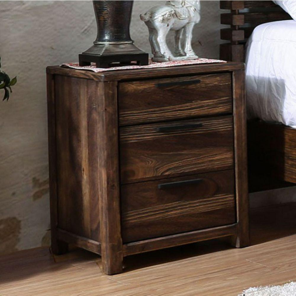 Brisa Transitional Style Night Stand, Rustic Natural Tone