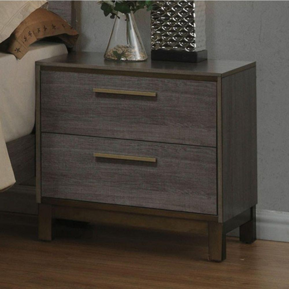 Aleah Contemporary Style Night Stand, Antique Gray