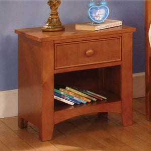Keenan Wood Night Stand, Oak Finish
