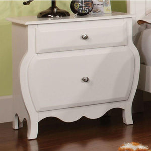Jaylin Transitional Nightstand, White Finish