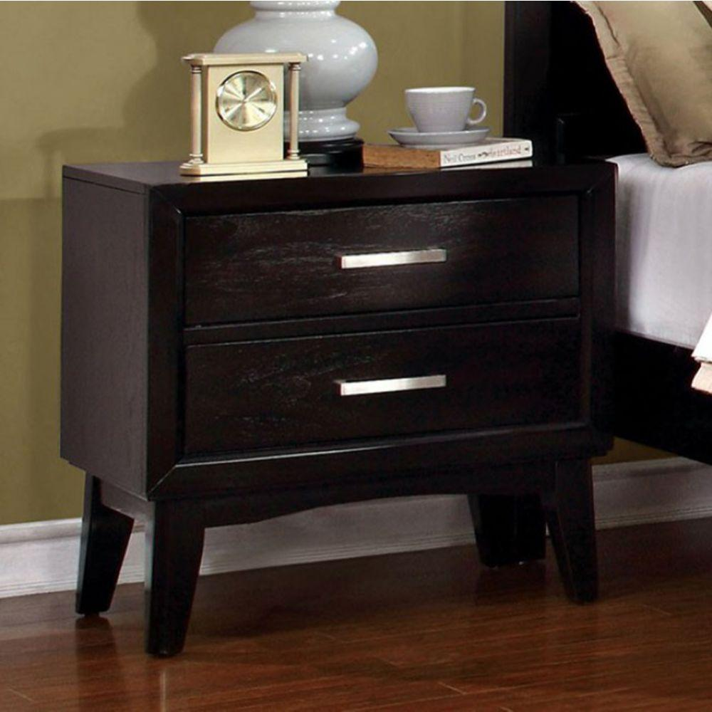 Dexter Contemporary Night Stand In Espresso Finish