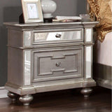 Colten Contemporary Night Stand In Silver