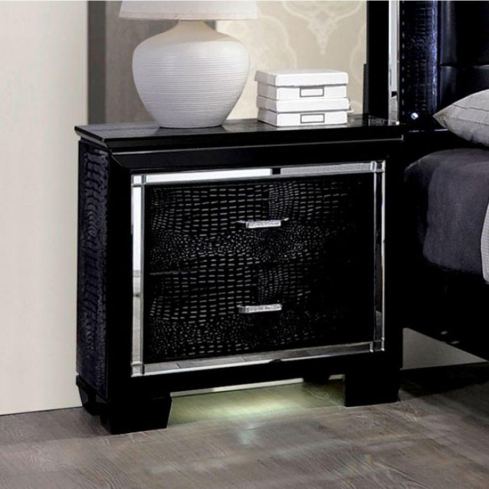 Jaime Contemporary Night Stand In Black