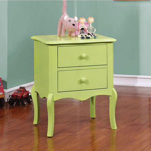 Amirah Traditional Style Night Stand Apple Green