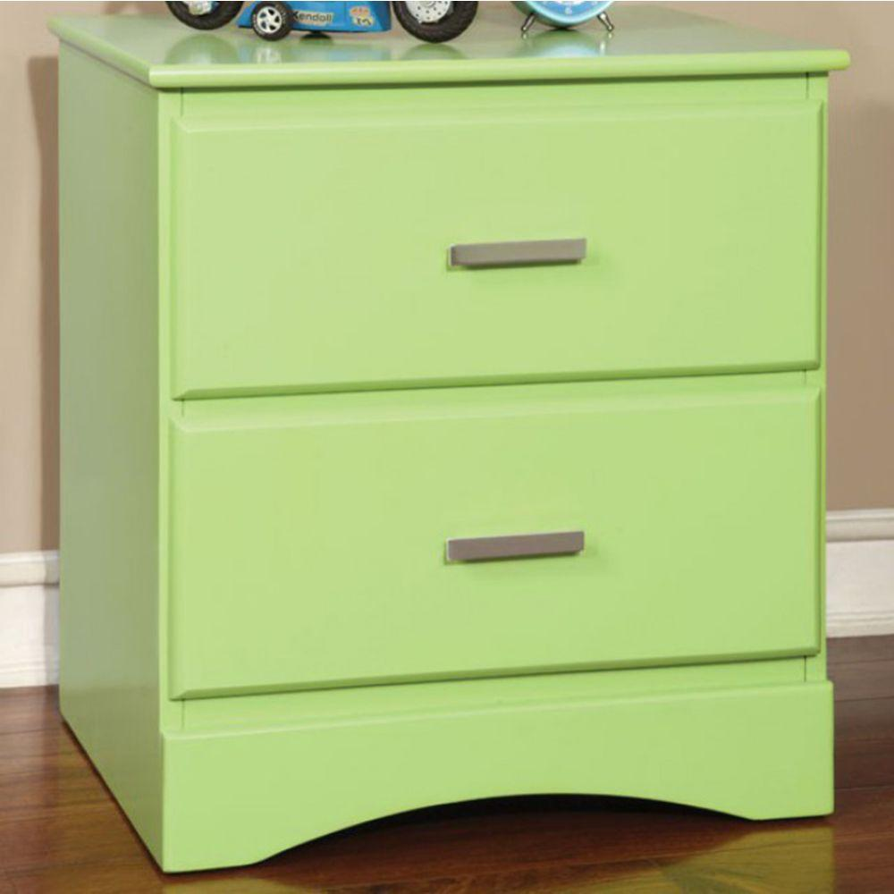 Alisson Transitional Style Night Stand, Green