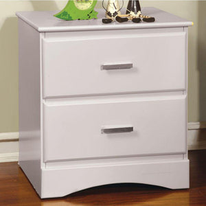Deborah Transitional Style Night Stand, White