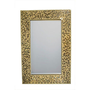 Anastasia Contemporary Rectangular Mosaic Patterned Mirror, Multicolor