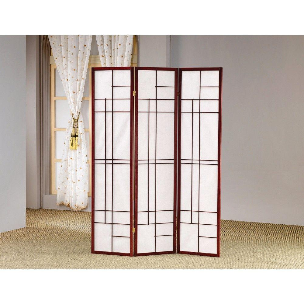 Milo Classic 3 Panel Wooden Folding Screen, Brown