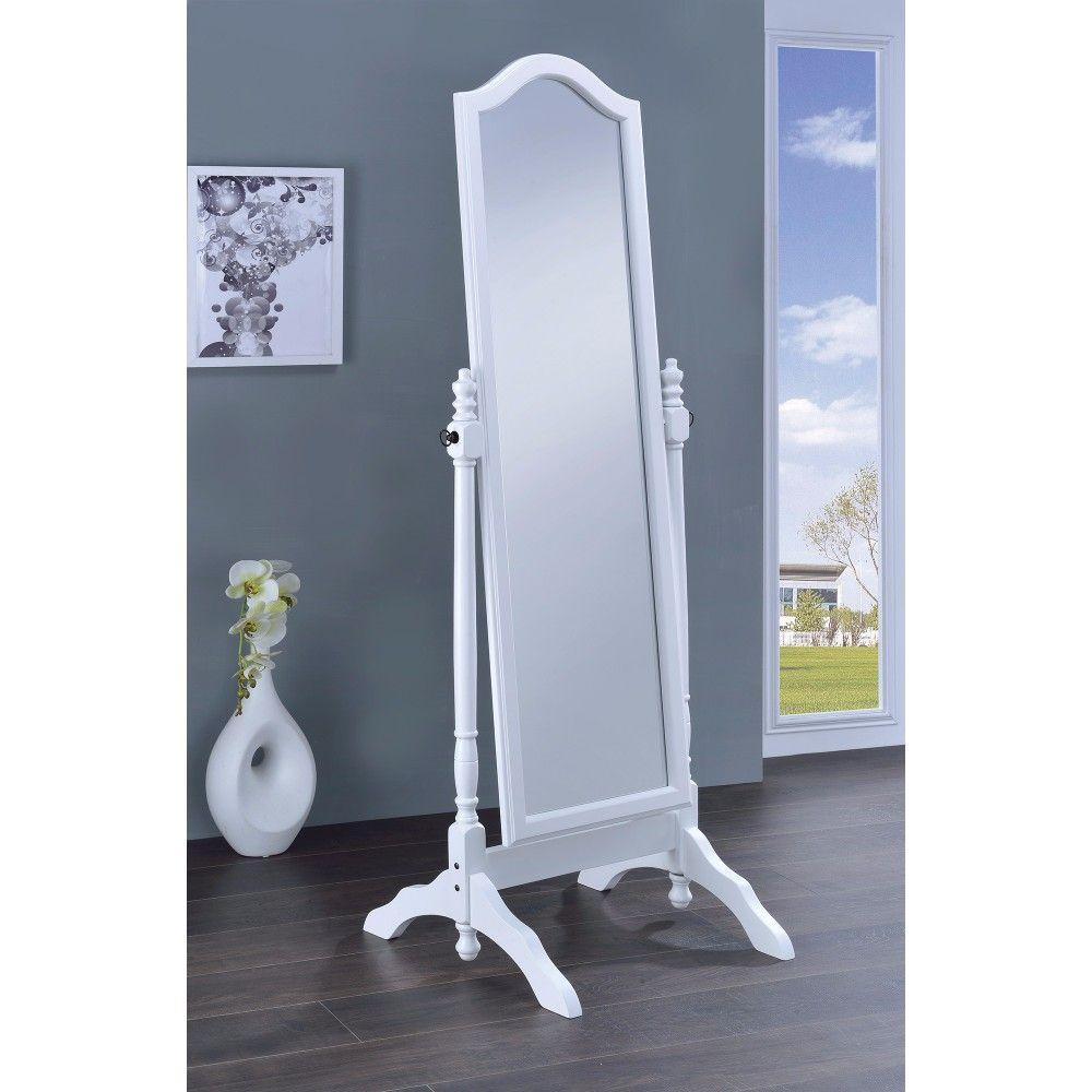 Jimena Elegant Mirror With Arched Top, White
