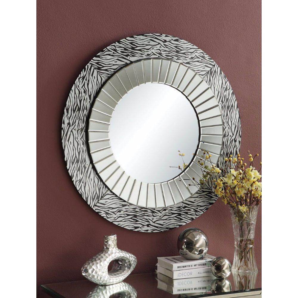 Fernanda Beautifully Framed Accent Mirror, Silver