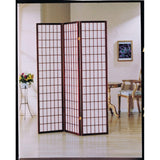 Jocelyn 3-Panel Wooden Screen, Cherry