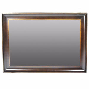 Hassan Wooden Mirror, Brown