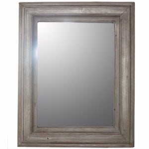 Salvatore Wooden Mirror, Gray