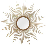 "Nevaeh Gold Simple Yet Striking Wall Mirror 26"" X 1.25"" X 26"""