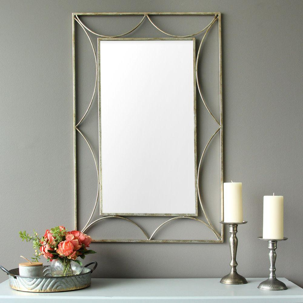 "Joseph Silver Simple And Elegant Wall Mirror 24"" x 0.05"" x 36"""