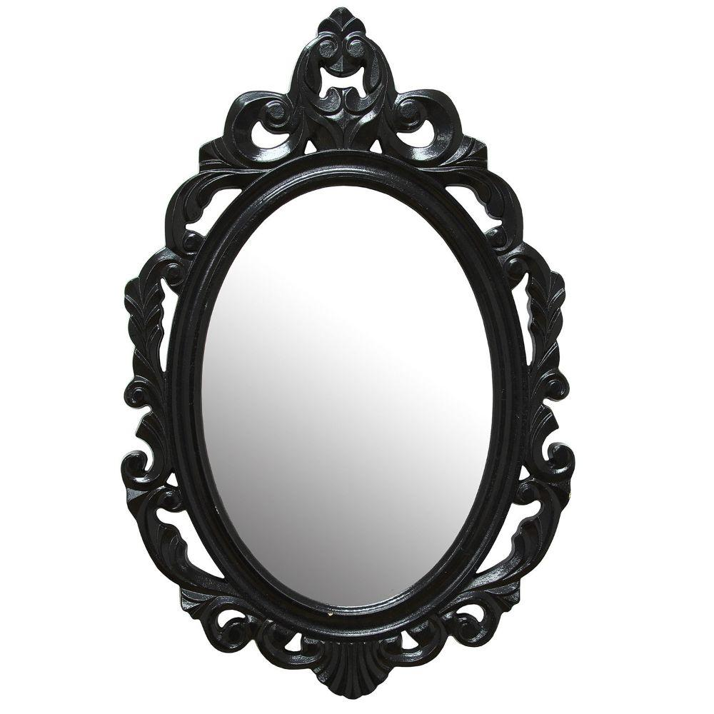 "Elliot Black Baroque Mirror 15.25"" X 0.5"" X 23.25"""