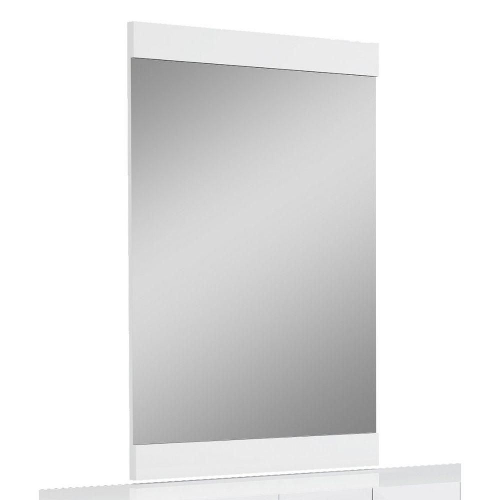 Aria Superb White High Gloss Mirror 45""