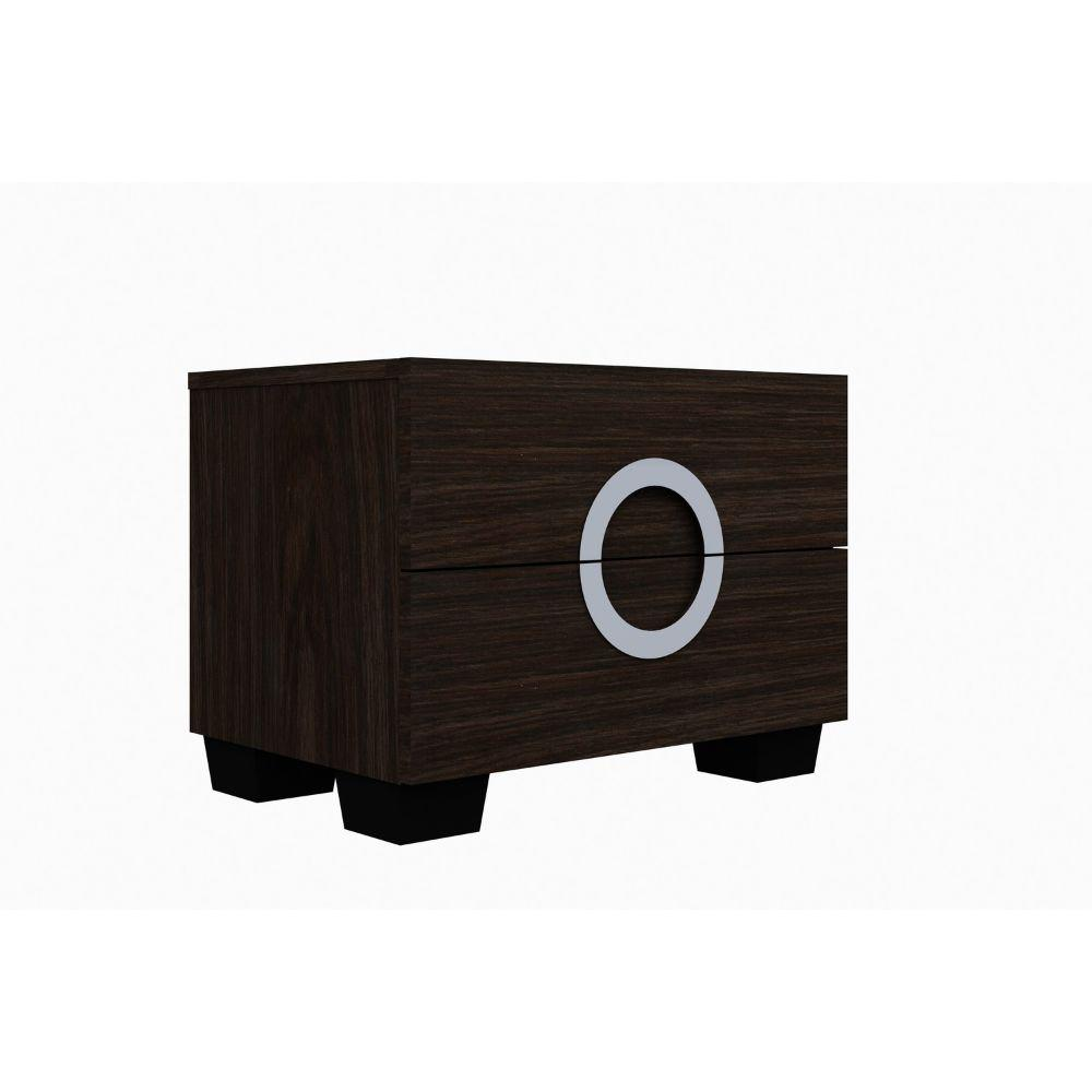 Kolton Refined Wenge High Gloss Nightstand 18""