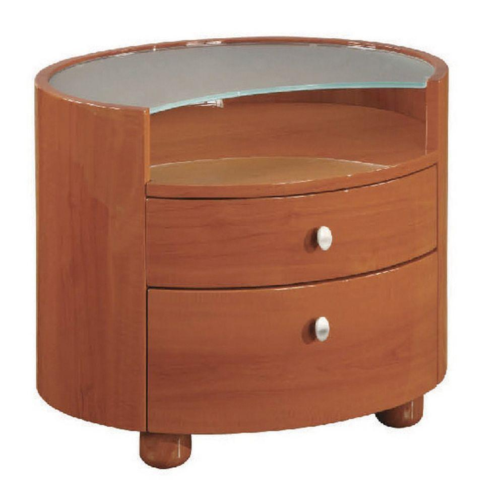 Amyas Sophisticated Cherry High Gloss Nightstand 20""