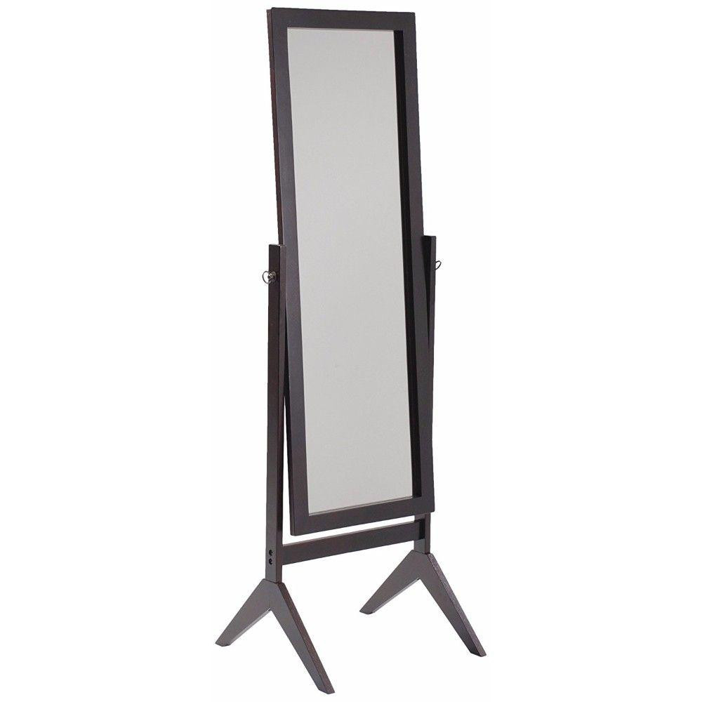 Lacey Elegantly Designed Cheval Mirror, Black