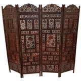 Alejandra Carved Wooden Screen Screen Fine Work Room Dividers