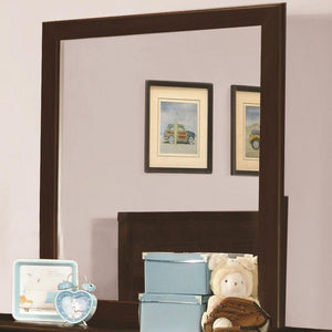 Randall Wooden Framed Mirror, Cappuccino