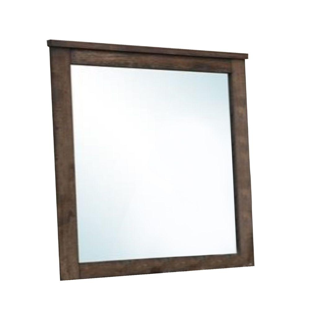 Tenley Distressed Solid Wood Mirror Brown