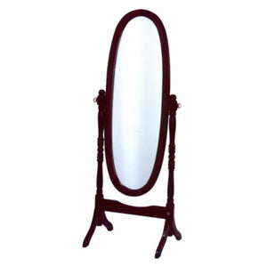 Amos Wooden FullLength Mirror In Cherry Red