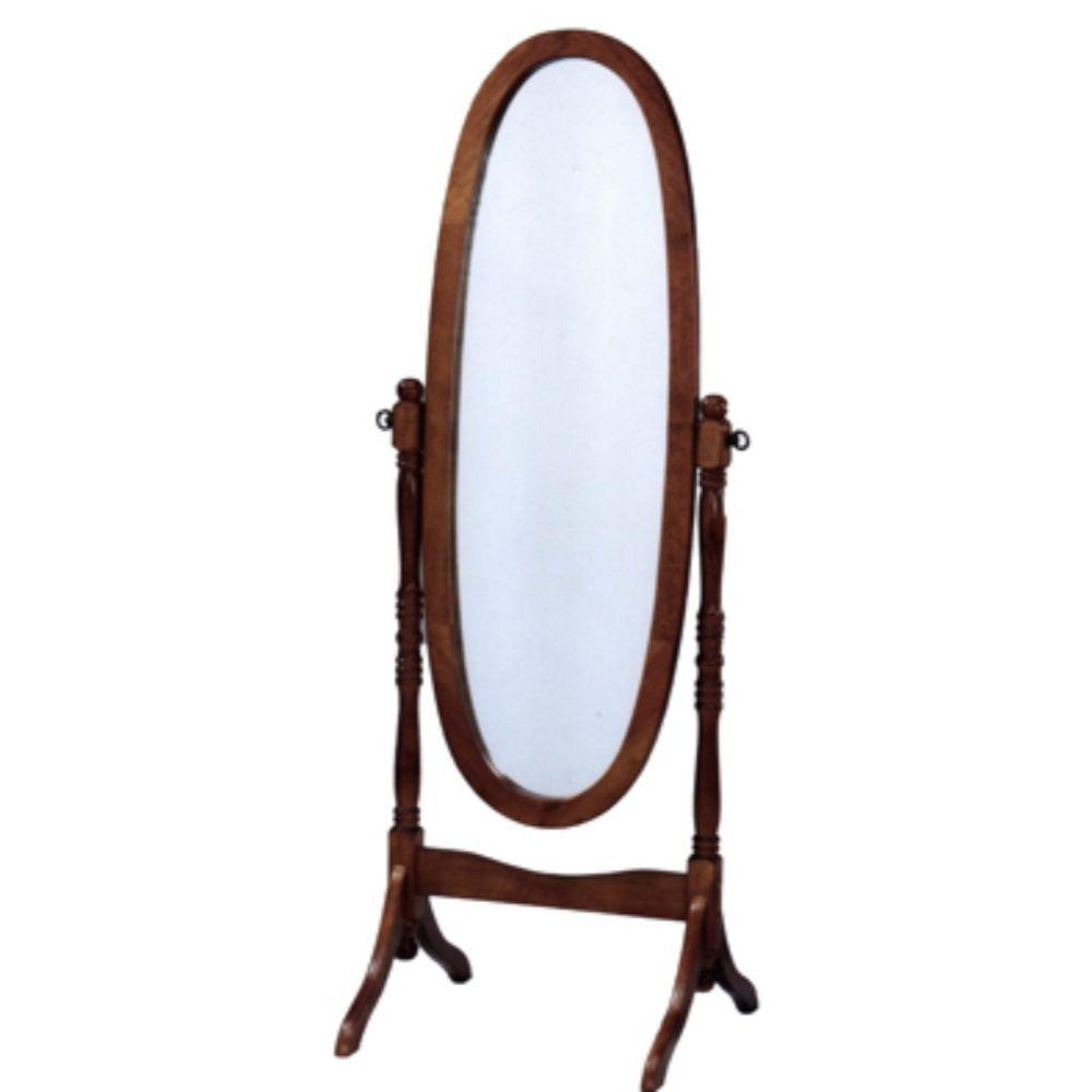 Tiffany Chevalinspired Wooden FullLength Mirror In Oak Brown