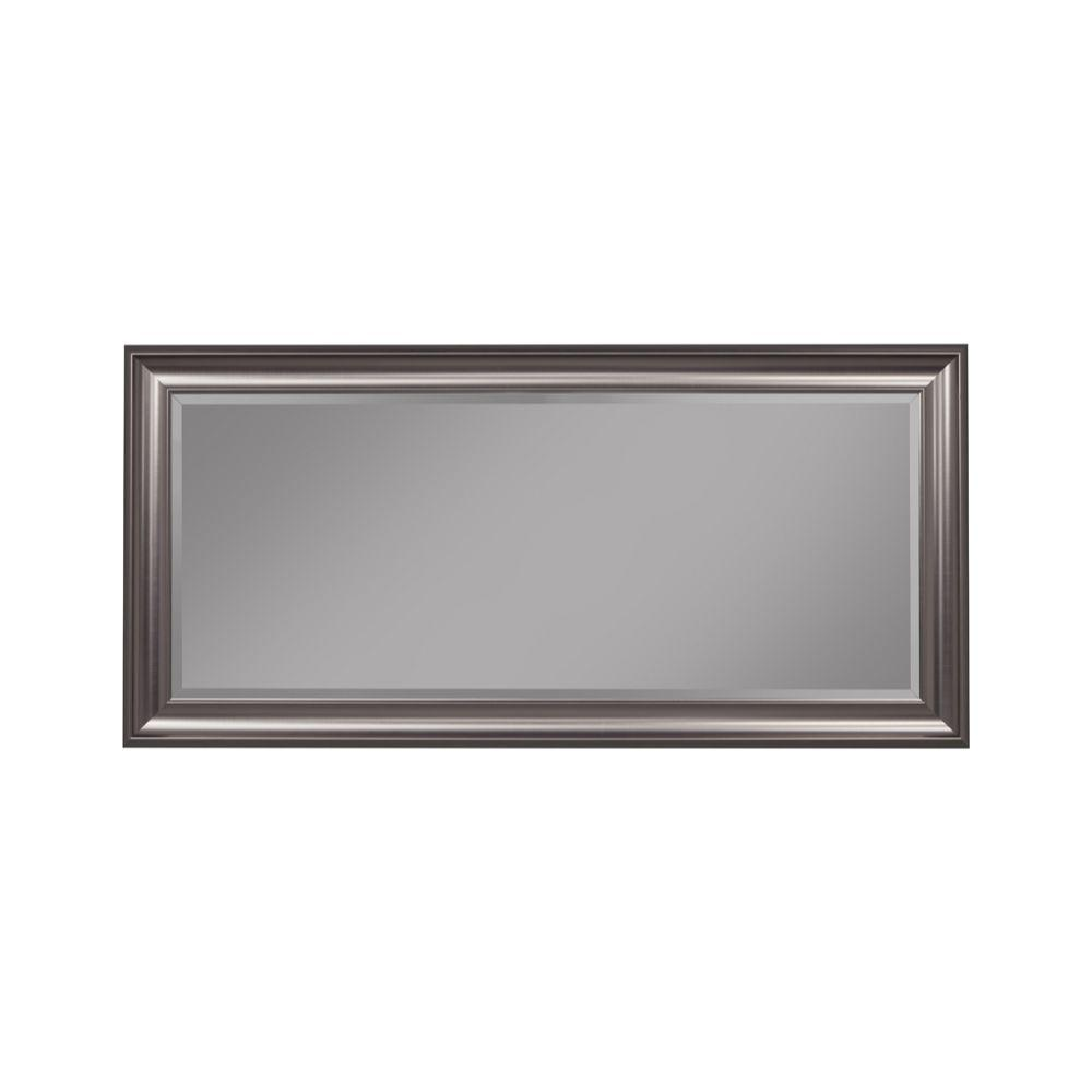 Priscilla Full Length Leaner Mirror With a Rectangular Polystyrene Frame, Silver