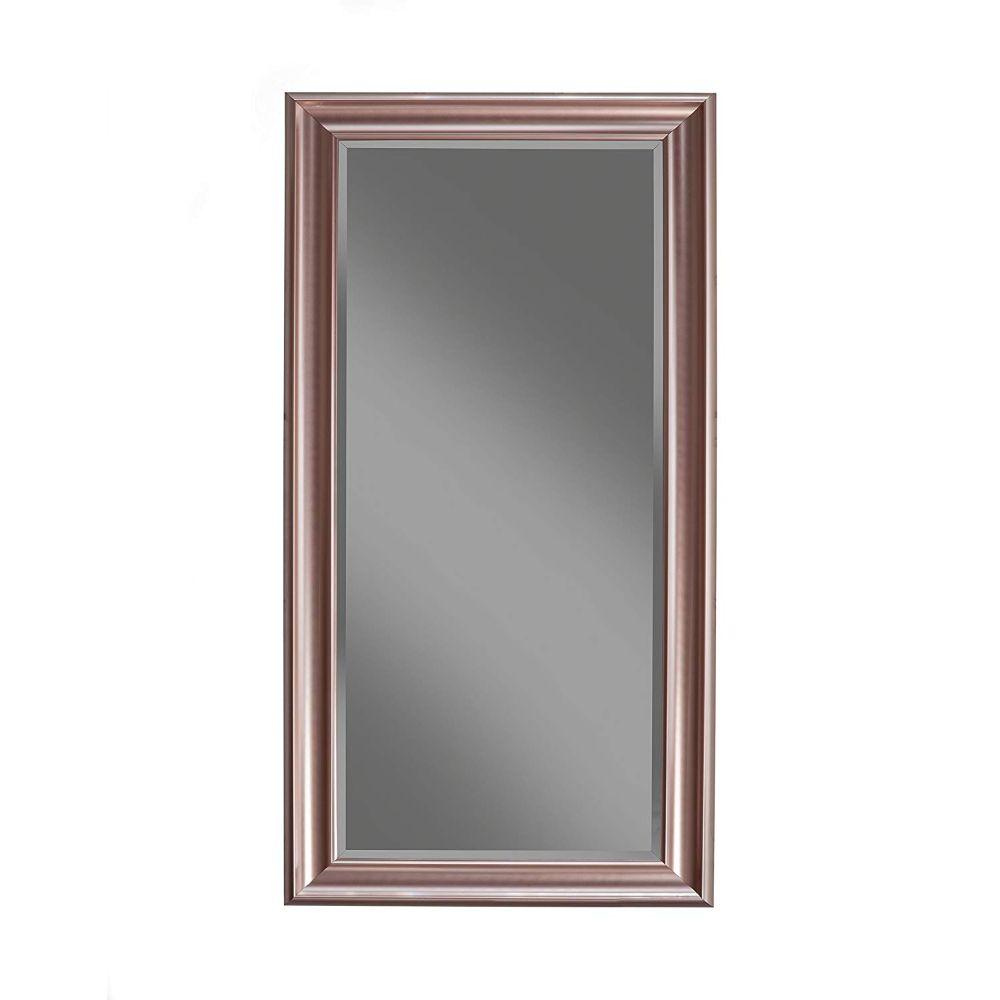 Lana Full Length Leaner Mirror With a Rectangular Polystyrene Frame, Rose Gold