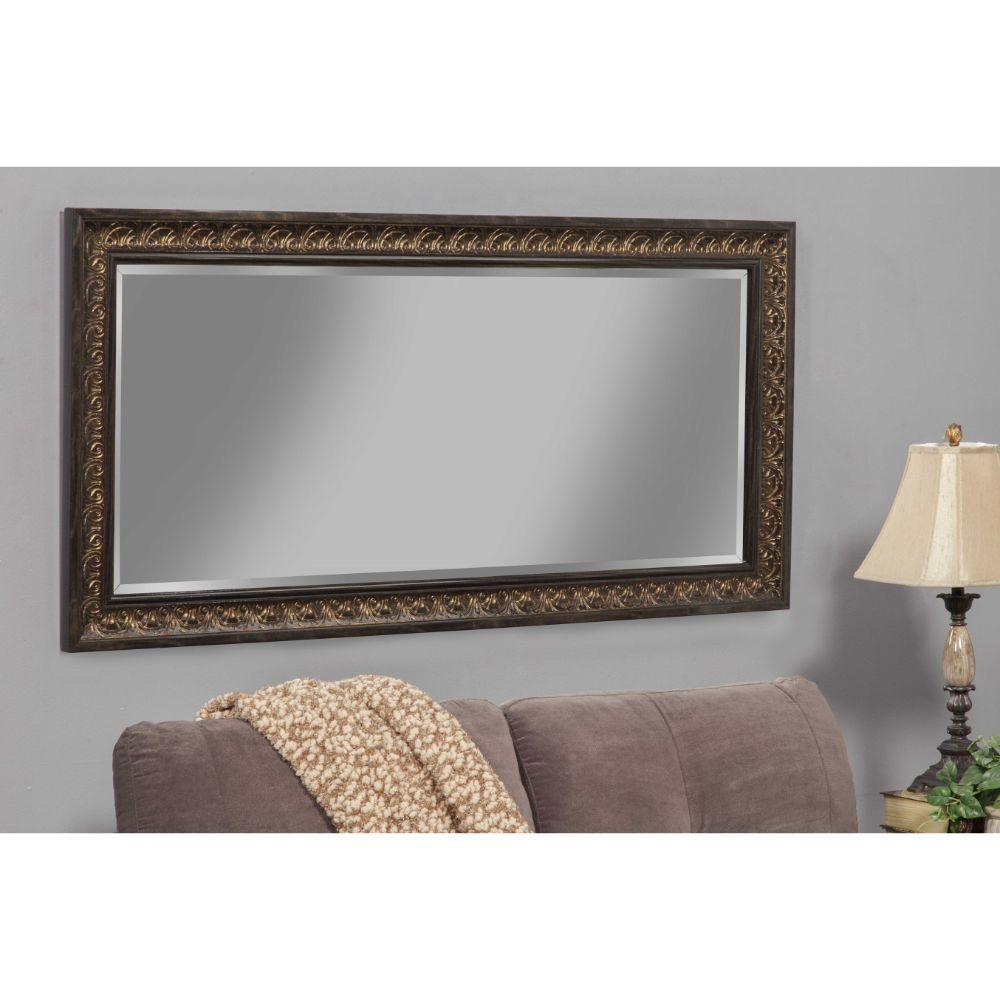 Erica Full Length Leaner Mirror With a Rectangular Polystyrene Frame, Bronze