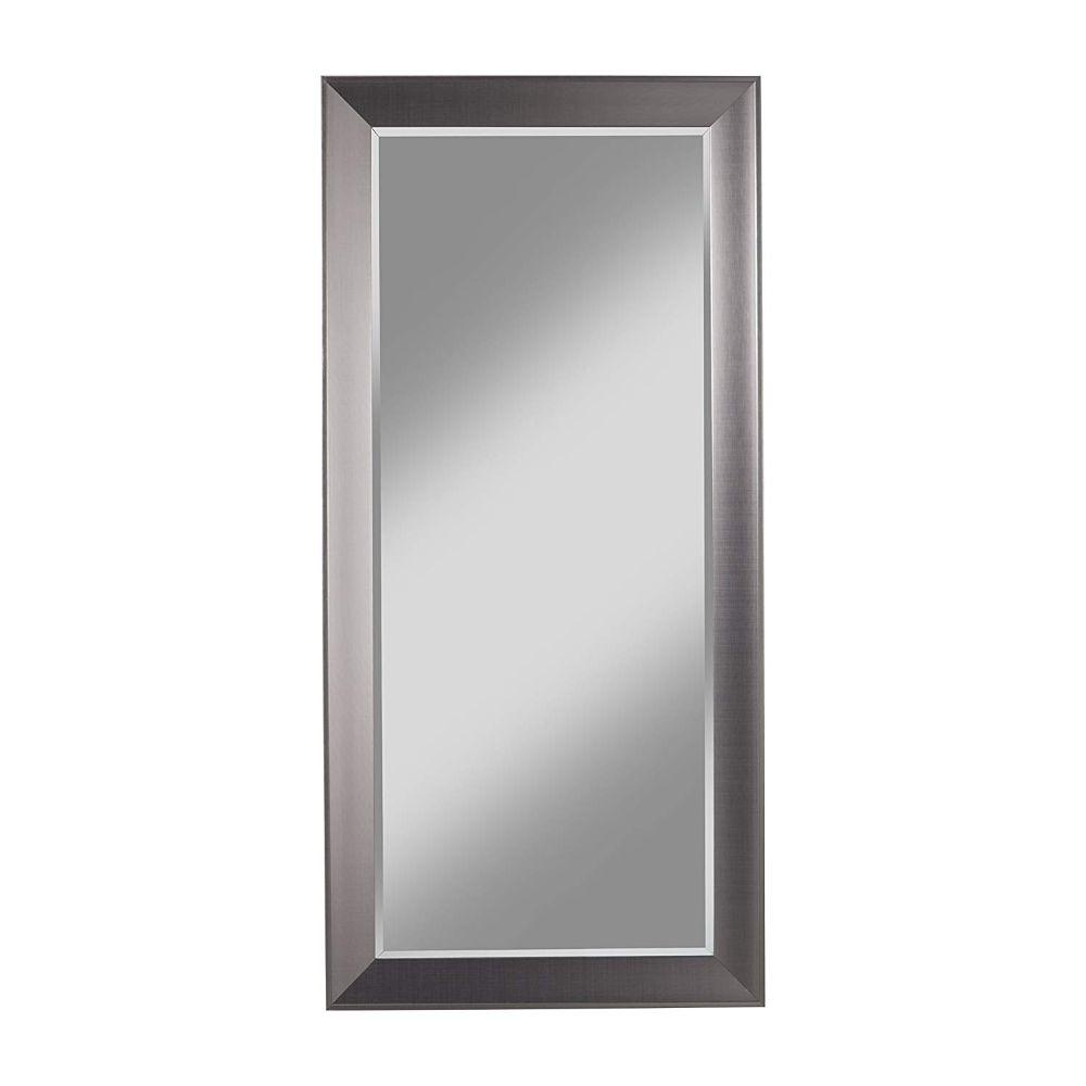 Walter Contemporary Full Length Leaner Mirror With Rectangular Polystyrene Frame, Silver
