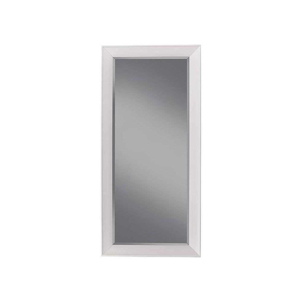 Scott Contemporary Full Length Leaner Mirror With a Rectangular Polystyrene Frame, White