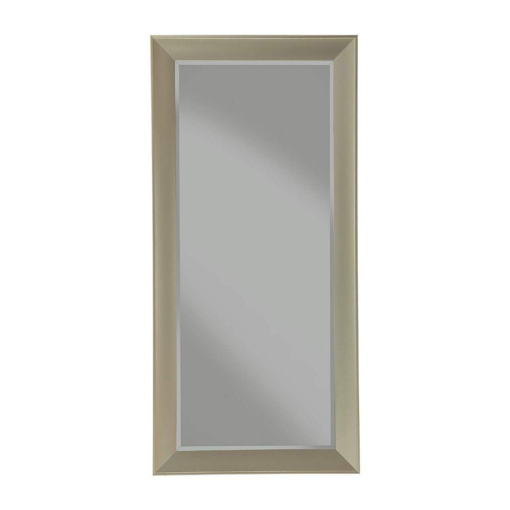 Trent Contemporary Full Length Leaner Mirror With Polystyrene Frame, Brushed Bronze