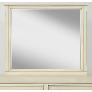 Ernest Wooden Framed Inclusion Mirror, Ivory