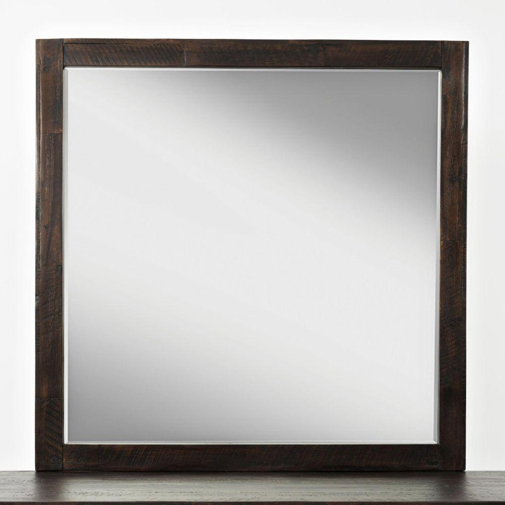 Masen Wooden Framed Studio Mirror, Vintage Brown