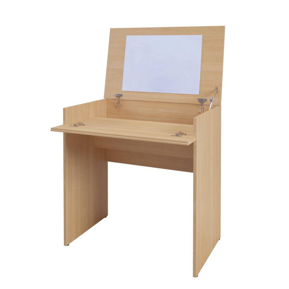 Jazlyn Vanity with mirror / Writing Desk Natural Maple