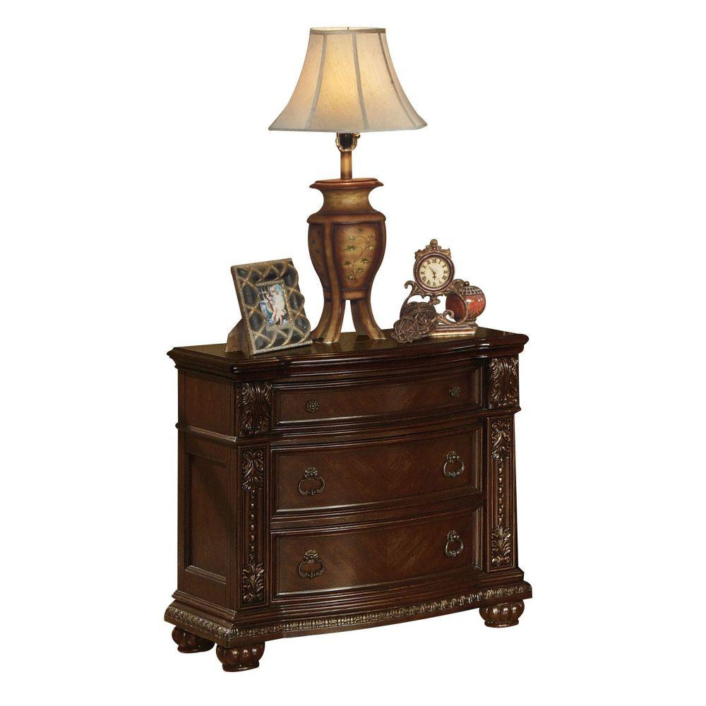 "Destiny Wood and Veneer (Wood) Nightstand (No Marble Top), Cherry 32"" X 20"" X 35"""