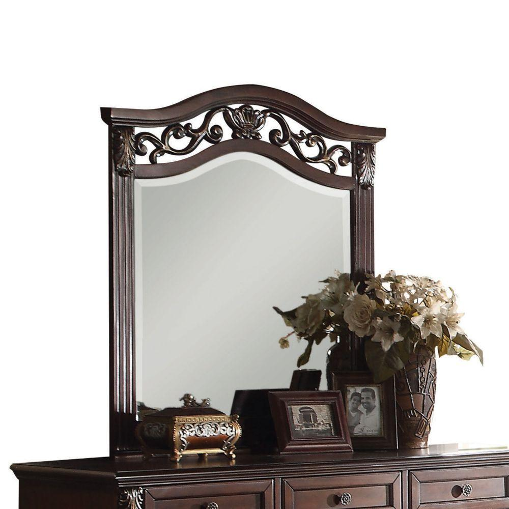 "Makenzie Wood and Mirror Mirror, Dark Walnut 41"" X 2"" X 37"""