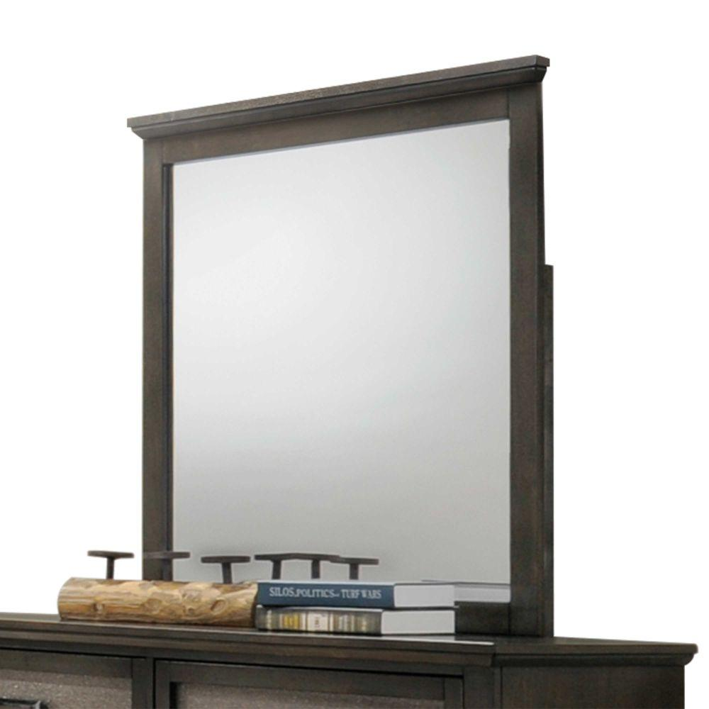 "Rylee Wooden Mirror, Dark Walnut 36"" X 1"" X 36"""