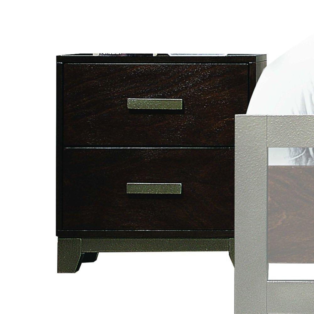 "Lucas Wood and Engineered Wood Nightstand, Walnut 24"" X 16"" X 22"""