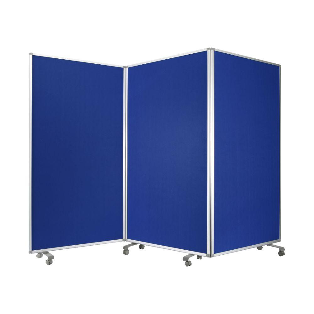 "Allyson Metal and Fabric  Azure Screen 71"" X 106"" X 1"""