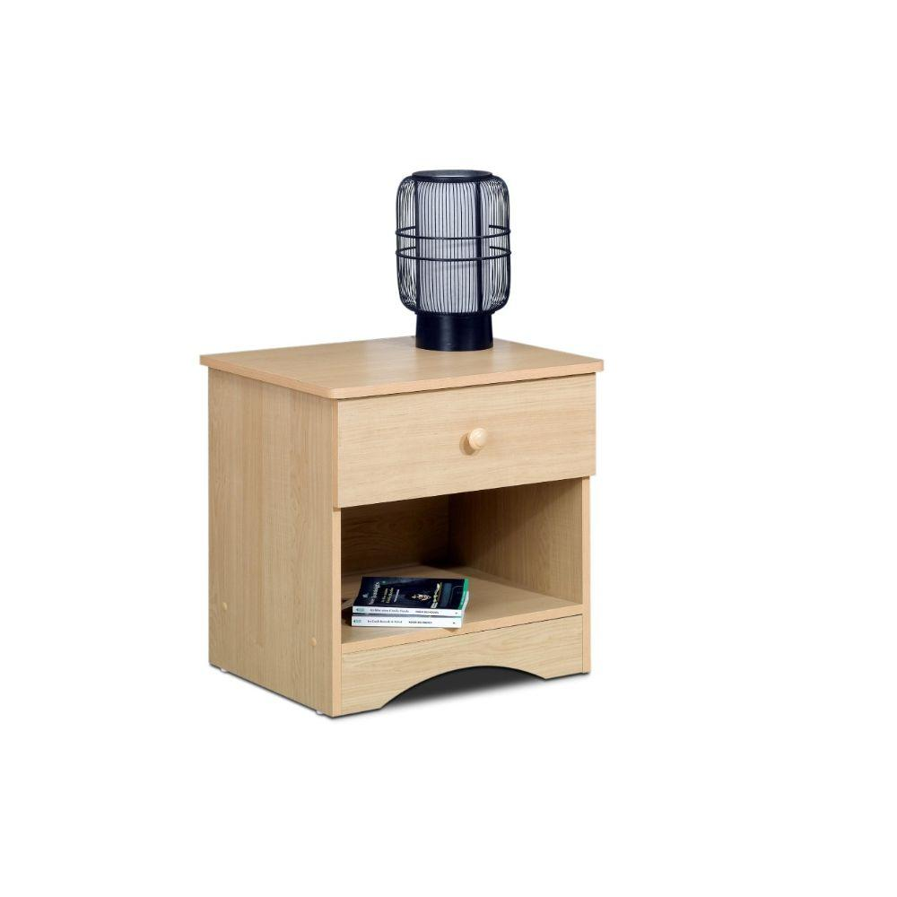 Chander Alegria Nightstand 1-Drawer Natural Maple