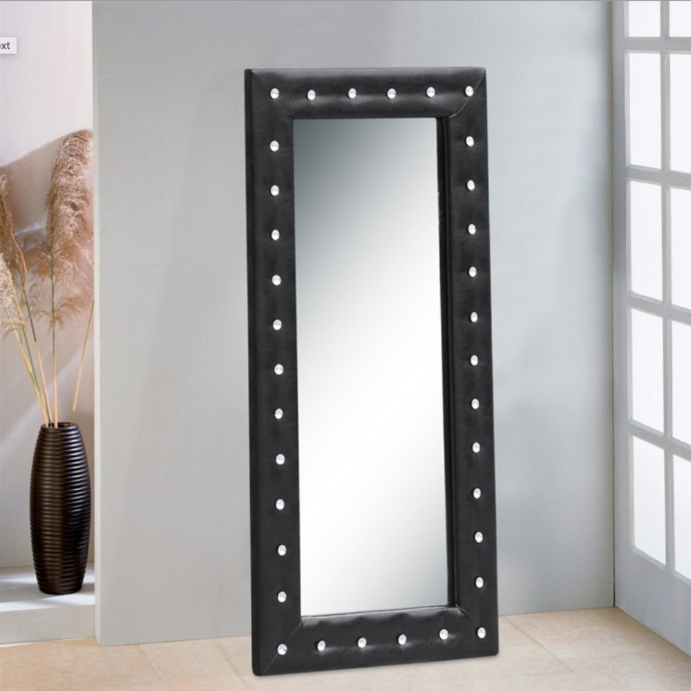 Aileen Tufted Mirror 46, Black