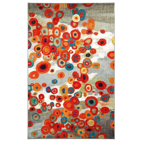 Tossed Floral Area Rug, 5'x8'