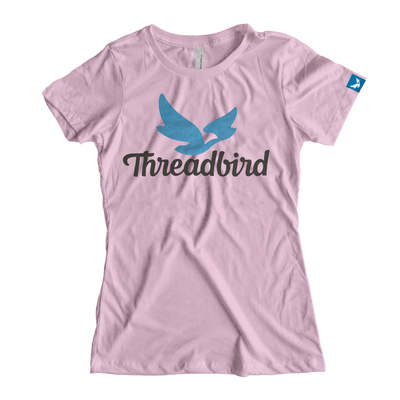 'Threadbird Logo' Tee Waterbase Lilac (Next Level 6610)