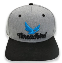 Load image into Gallery viewer, 'Threadbird Logo' Grey and Black Flat Bill