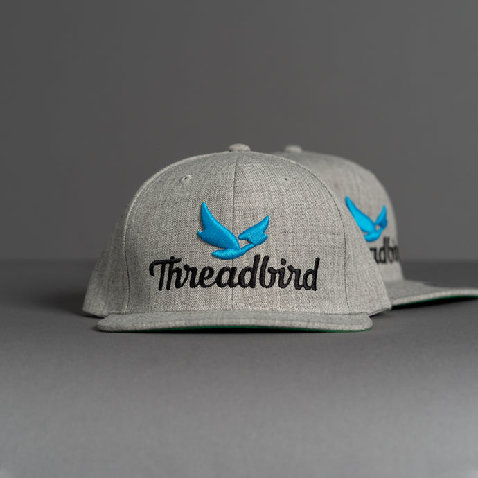'Threadbird Logo' Flat Bill Hat