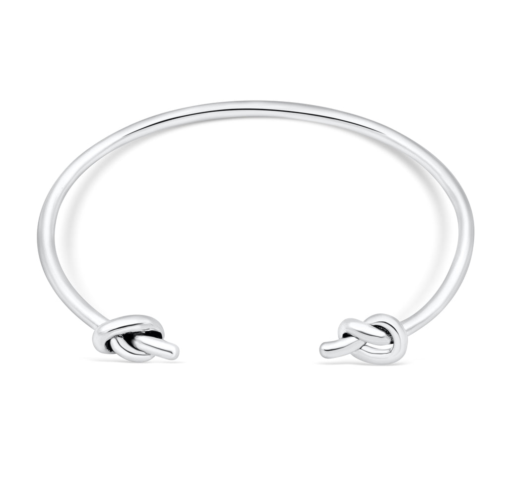 Tie two knots silver bracelet - Ayu House